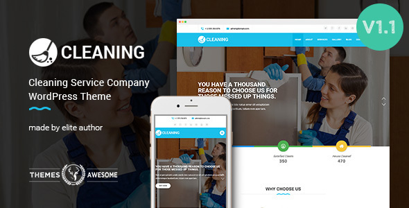 Cleaning Service Company WordPress Theme on WordPress